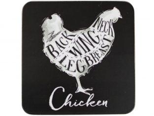 Podkładki Chicken 10x10cm podkł zest.6 szt.