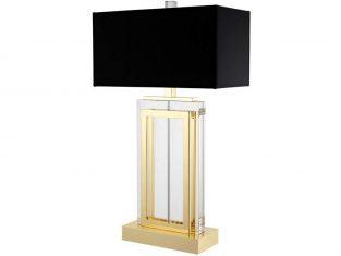 Lampa stołowa Arlington Gold Black 25x38x67,5cm