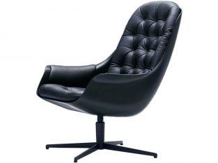 Fotel ze skóry naturalnej Blackbird sits bbhome