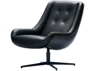 Fotel ze skóry naturalnej Lovebird Sits bbhome