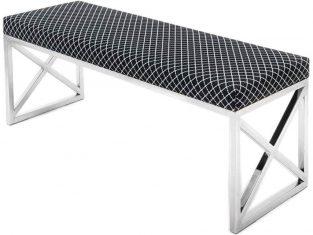 Ławeczka stalowa z tapicerowanym siedziskiem Callis 120x40x45 cm