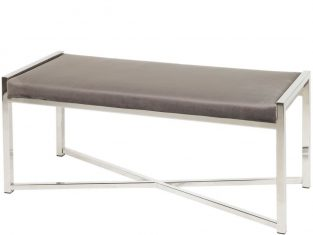 Ławeczka stalowa z tapicerowanym siedziskiem Movi 120x40x45 cm