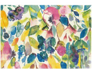 """Dywan z wełny dziewiczej """"Blueballgray"""" Flowers Pastel 170×230 cm"""