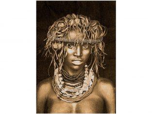 Pled żakardowy FS Home Collections Dassenech Girl Sepia 140x220cm