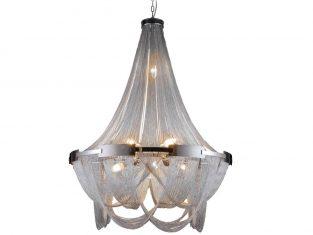 Żyrandol do salonu Roma Silver 72×176 cm Cosmo Light