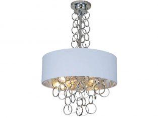 Lampa wisząca Cairo Silver White 60×70 cm Cosmo Light