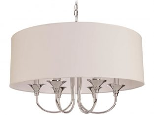 Żyrandol Abu Dhabi Silver White 60×130 cm Cosmo Light
