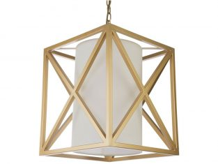 Lampa wisząca New York Gold 35×35 cm Cosmo Light