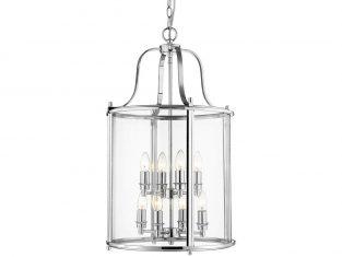Lampa wisząca New York Silver 43×176 cm Cosmo Light