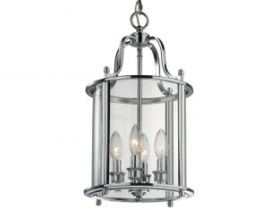 Lampa wisząca New York Silver 27×148 cm Cosmo Light