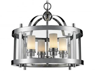 Lampa wisząca New York Silver 33×42 cm Cosmo Light