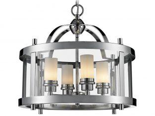 Lampa wisząca New York Silver 33×42 cm Cosmo Light