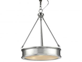 Lampa wisząca New York Silver 42×170 cm Cosmo Light