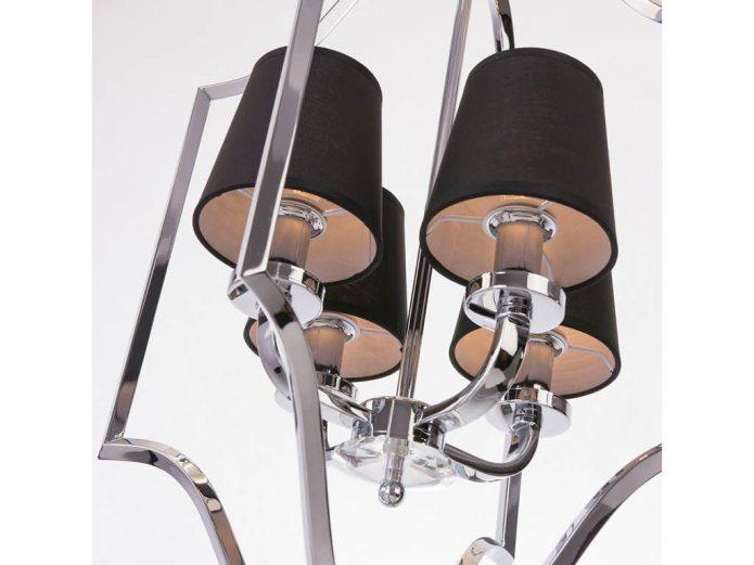 Lampa wisząca z czarnymi abażurami New York Cosmo Silver 46x67 cm Cosmo Light