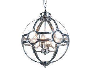 Lampa wisząca Amsterdam Silver 4L 43x32cm Cosmo Light
