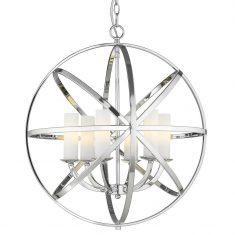 Żyrandol Orlando Silver 6L 61x67cm Cosmo Light