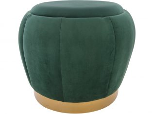 Puf Rosebud Velvet Green 45x45cm