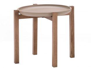 Stolik boczny z tacą Pacini&Cappellini Gong 45×40 cm