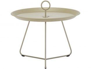 Stolik metalowy beżowy Eyelet 60×43,5 cm