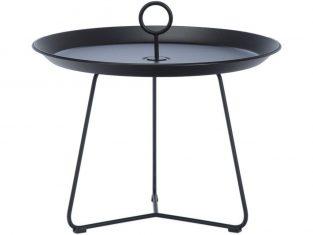 Stolik metalowy czarny Eyelet 60×43,5 cm