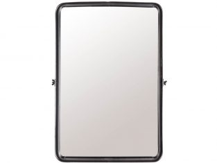 Lustro prostokątne Screen Black 40,5×8,5×60 cm