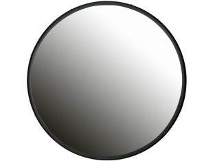 Lustro okrągłe Laurent Black 80×4 cm
