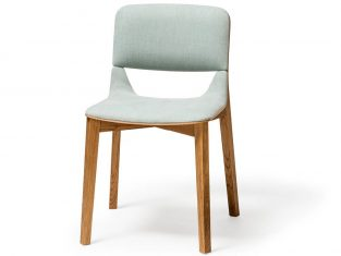 Krzesło tapicerowane bukowe Leaf Ton