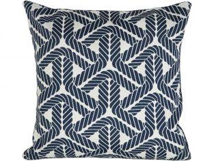 Poduszka dekoracyjna Rope Blue 45×45 cm Maja Laptos Studio