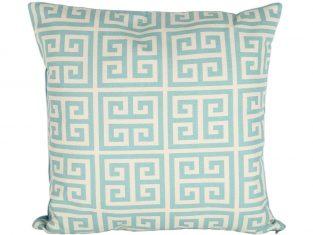 Poduszka dekoracyjna we wzory geometryczne Akropol Blue 45×45 cm BBHome