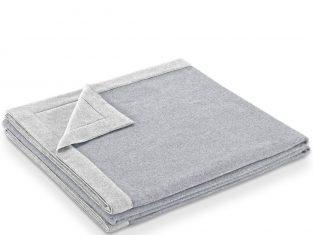Koc z wełny merynosa Marzotto Afrodite Grey 240×260 cm