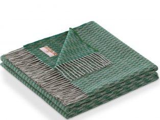 Narzuta z kaszmirem Marzotto Grifone Green 130×180 cm