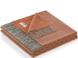 Narzuta z kaszmirem Marzotto Grifone Rust 130×180 cm