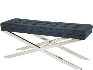 Ławeczka z tapicerowanym siedziskiem Mayfield 120x40x50 cm