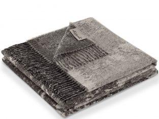 Koc z wełny alpaki Marzotto Totem Grey 130×180 cm