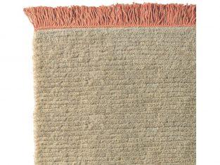 Dywan z wełny tybetańskiej Nima Salmon Fringes 170×240 cm