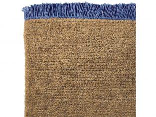 Dywan z wełny tybetańskiej Nima Cobalt Fringes 170×240 cm