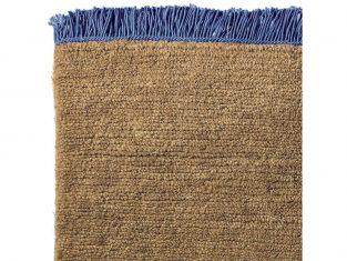 Dywan z wełny tybetańskiej Nima Cobalt Fringes 200×300 cm