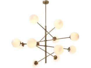 Lampa wisząca Eichholtz Tortora Brass 122×69 cm