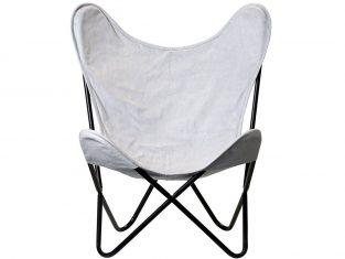 Fotel designerski Papillon Grey 81x91x71 cm