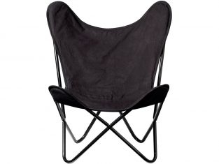 Fotel designerski Papillon Black 81x91x71 cm