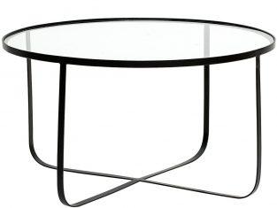 Stolik kawowy Harpers Black 80×43 cm