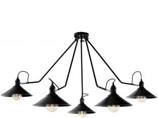Lampa Kaspa Hats Black 5 160×55