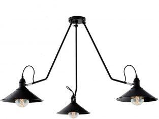Lampa Kaspa Hats Black 3 130x55cm