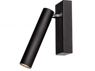 Lampa nowoczesna czarna Roll 17×6 cm