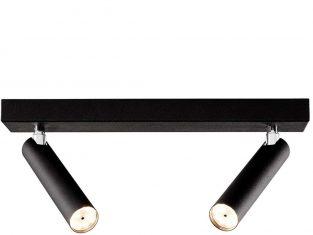 Lampa sufitowa czarna podwójna Roll 17×35 cm