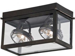 Lampa sufitowa podwójna ciemnobrązowa Geo