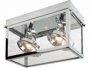 Lampa sufitowa podwójna chromowana Geo