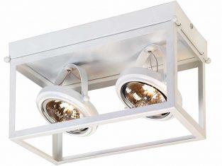 Lampa sufitowa podwójna biała Geo