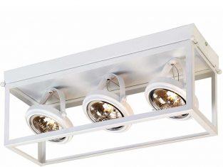 Lampa sufitowa potrójna biała Geo