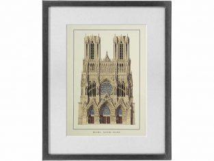 Szkic graficzny Reims Notre Dame